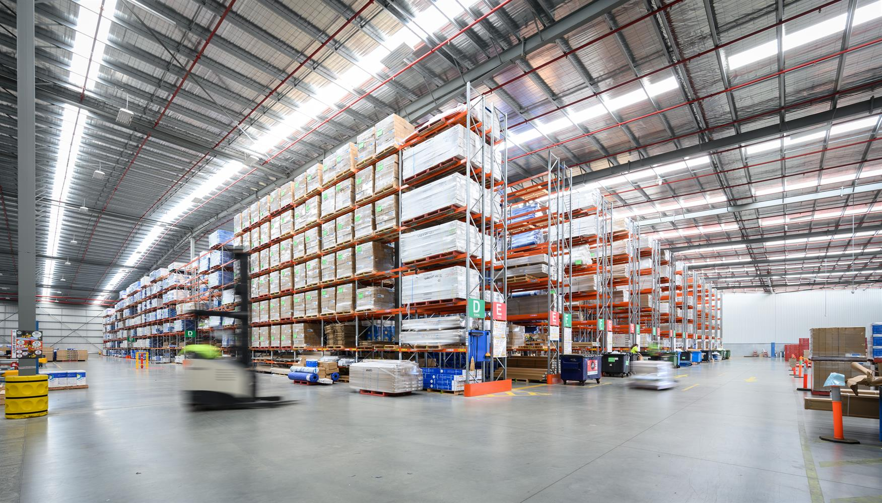 Stock Image - Industrial Warehouse